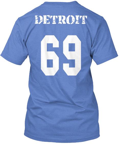 Detroit 69 Heathered Royal  T-Shirt Back