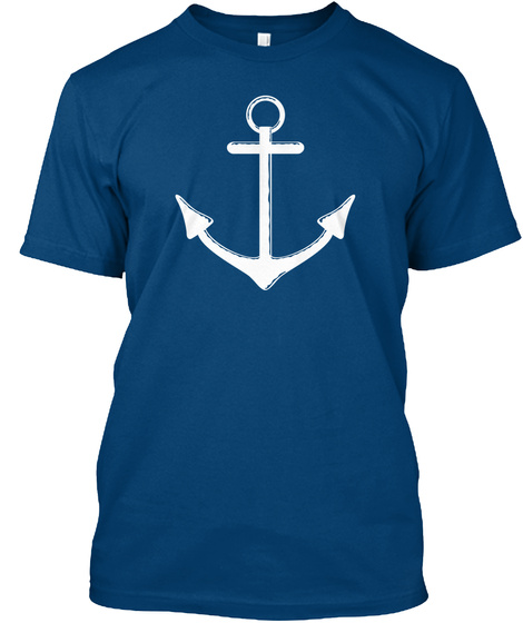 Salty Dogs Christian Podcast Swag! Cool Blue T-Shirt Front