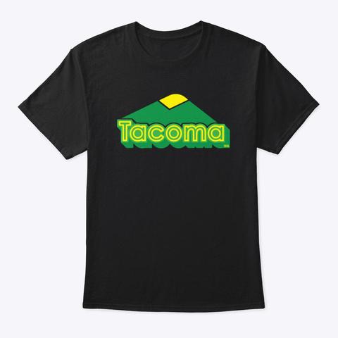 """Tacoma """"Big Mountain"""" No. 2 T Shirt Black T-Shirt Front"""