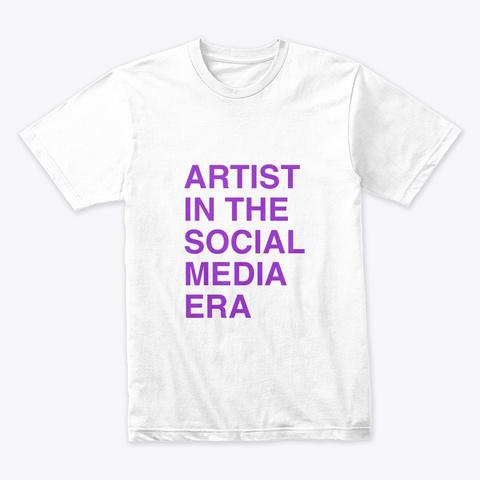 Artist Coaching White T-Shirt Front