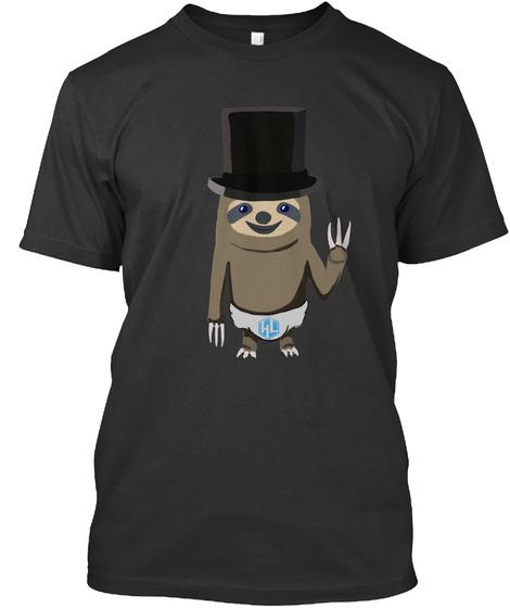 Heroes Lounge Sloth Chibi Shirt + More Black T-Shirt Front