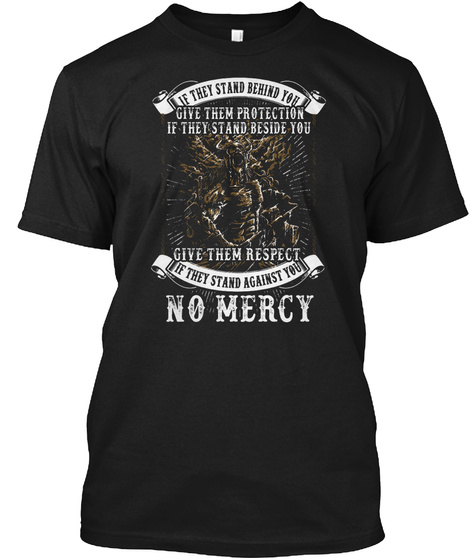 If They Stand Behind You... Black T-Shirt Front