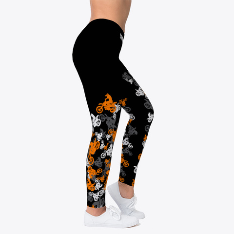 Mx Leggings Orange Scatter Black Camiseta Right