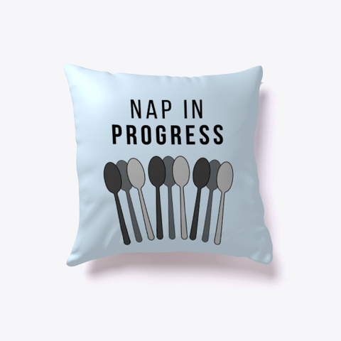 Nap In Progress | Spoons Pillow Pale Blue T-Shirt Front