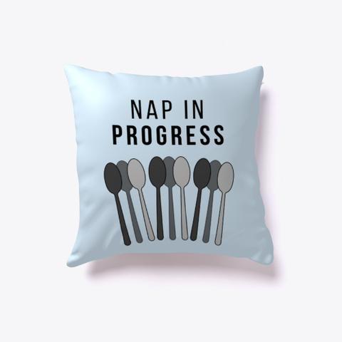 Nap In Progress | Spoons Pillow Pale Blue T-Shirt Front