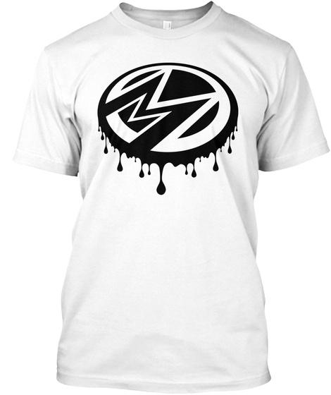M M White T-Shirt Front