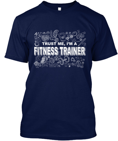 Fitness Shirt   Personal Trainer   Muskel   Studio Navy T-Shirt Front