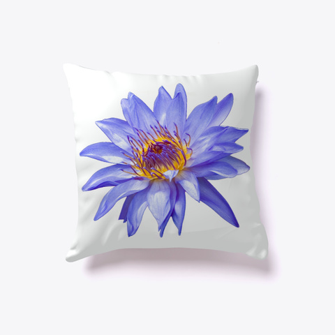 Water Lily Bloom Pillow #Boosted Pillow Standard T-Shirt Front