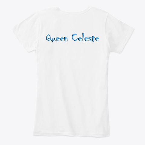Mopeio Official   Queen Celeste White Maglietta Back