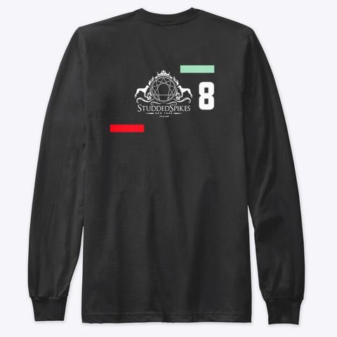 Ink Studdedspikes Motif 2 Black T-Shirt Back