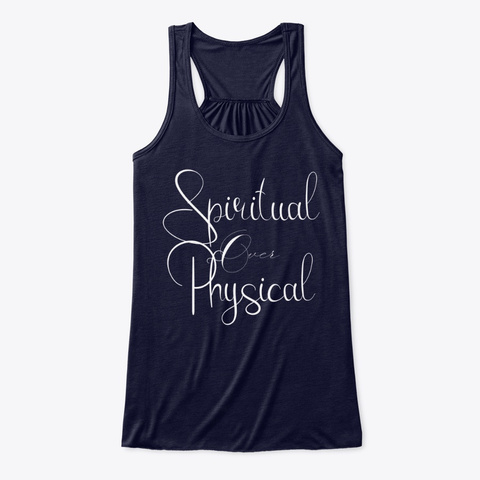 Spiritual Over Physical | Conscious Tee Midnight T-Shirt Front
