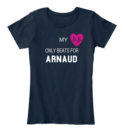 My Only Beats For Arnaud New Navy T-Shirt Front