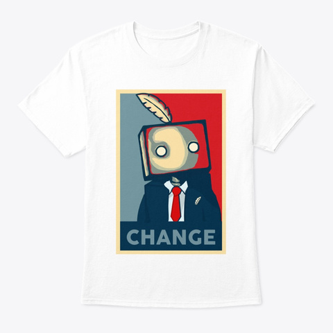 Quill Bot Politician T Shirt White T-Shirt Front