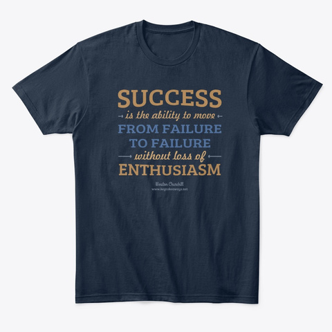 Success   Enthusiasm New Navy T-Shirt Front