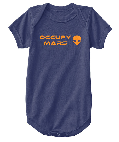 Occupy Mars Navy  T-Shirt Front
