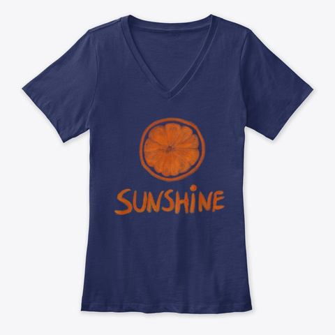 Orange Sunshine Navy T-Shirt Front