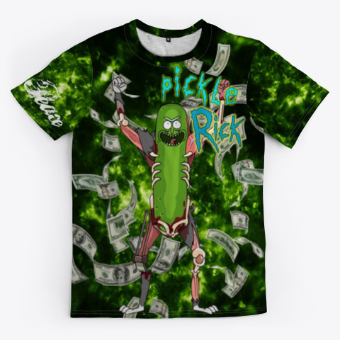 Pickle Rick! Green T-Shirt Front
