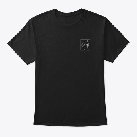 Player Line Art Black T-Shirt Front