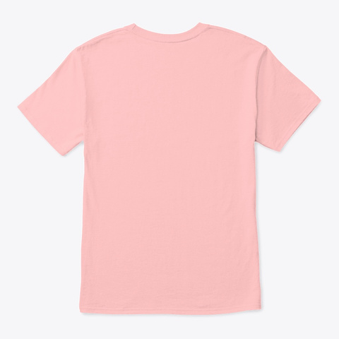 Nobody Fear   Steve Pale Pink T-Shirt Back