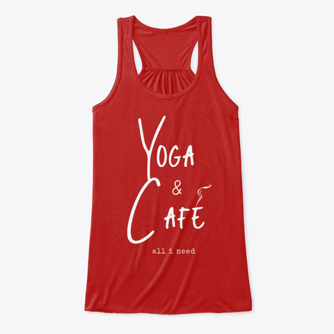 Yoga And Café Collection Red T-Shirt Front
