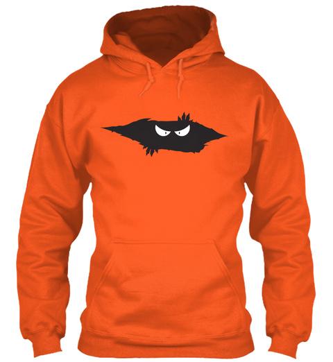 Peeping Monster Burnt Orange T-Shirt Front