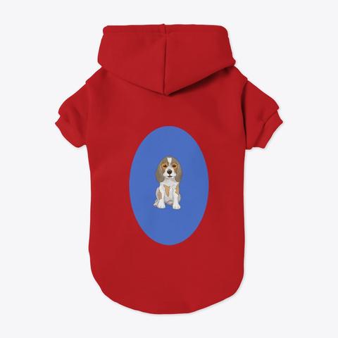 Beagle Dog Pet Dogs Beagles Perros Red T-Shirt Back