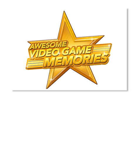 Awesome Video Game Memories Sticker White Sticker Front