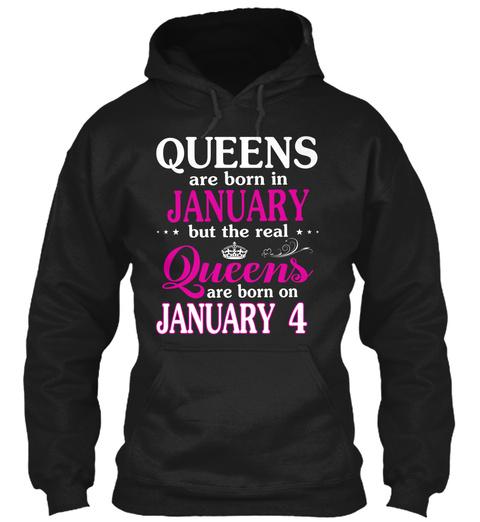 January 4  Women   Best Gift 2020 Black T-Shirt Front