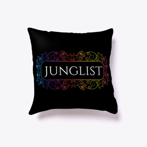 Drum And Bass Junglist Music Lover Retro Black T-Shirt Front