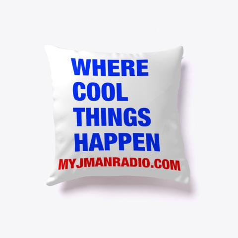 J Man Radio Pillow White T-Shirt Back
