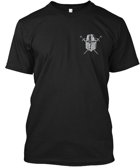 Infidel   The Crusader! Black T-Shirt Front