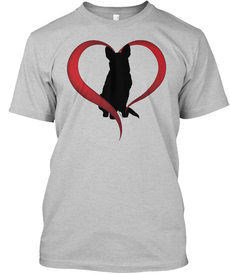 Cattle Dogs Fill Your Heart Light Heather Grey  T-Shirt Front