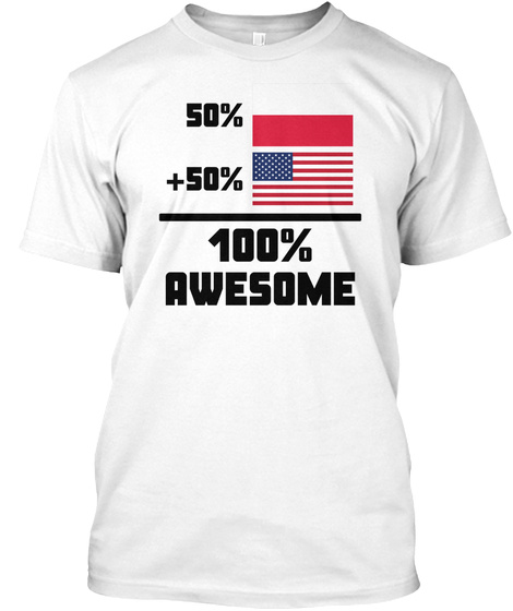 Awesome Polish American T Shirt White T-Shirt Front