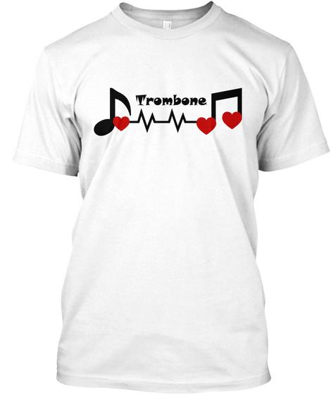 Trombone White T-Shirt Front