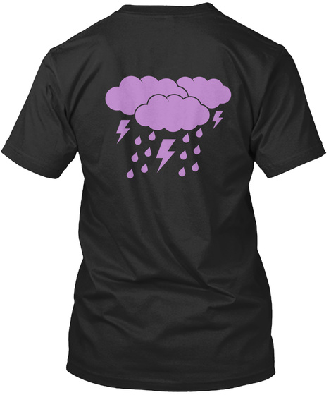 Purple Iii Black T-Shirt Back