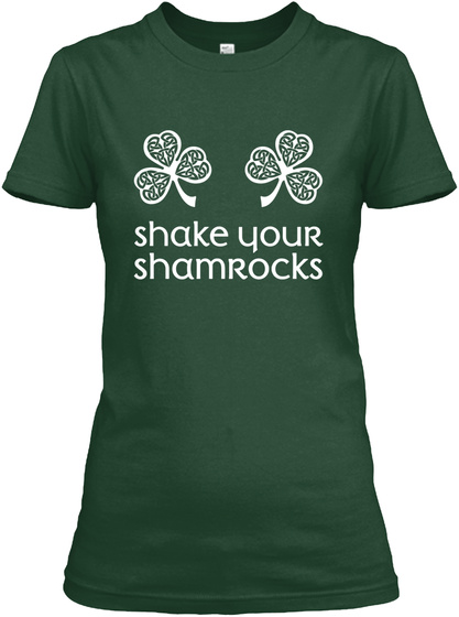 Irish, St Patrick's Day Forest Green T-Shirt Front