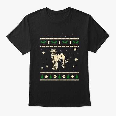 Christmas Rajapalayam Gift Black T-Shirt Front