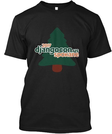2017 Djangocon.Us Spokane Black T-Shirt Front