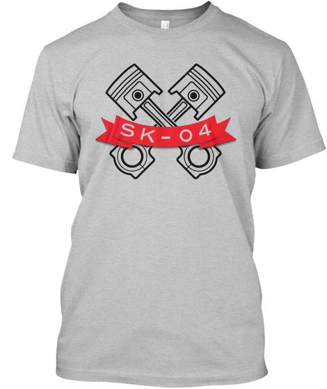 Sk 04 Light Heather Grey  T-Shirt Front