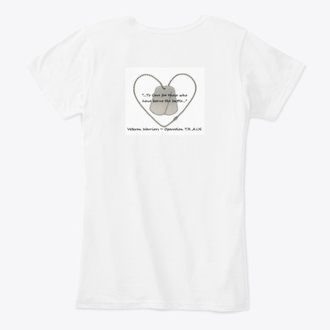 Operation T.R.A.I.N. White Women's T-Shirt Back