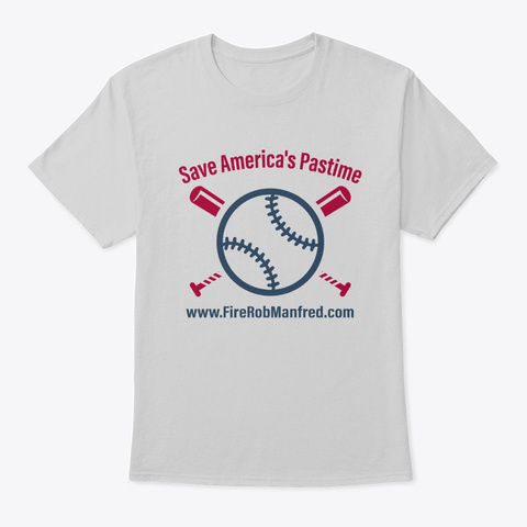 Save America's Pastime Light Steel T-Shirt Front