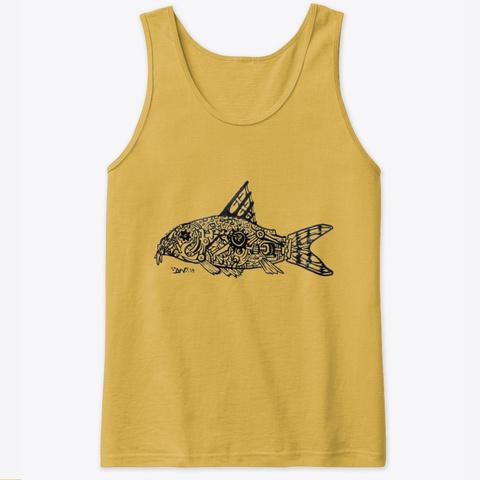 Trilineatus Corydora Dual Side Design Gold T-Shirt Front