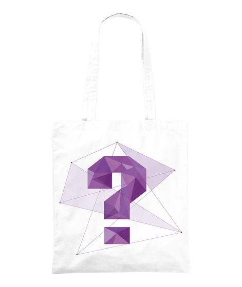 "Tote Bag ""?""   Matière Grise Merch White Tote Bag Front"