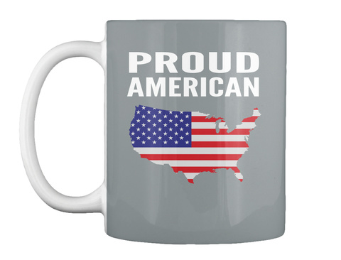 Proud  American Md Grey Mug Front