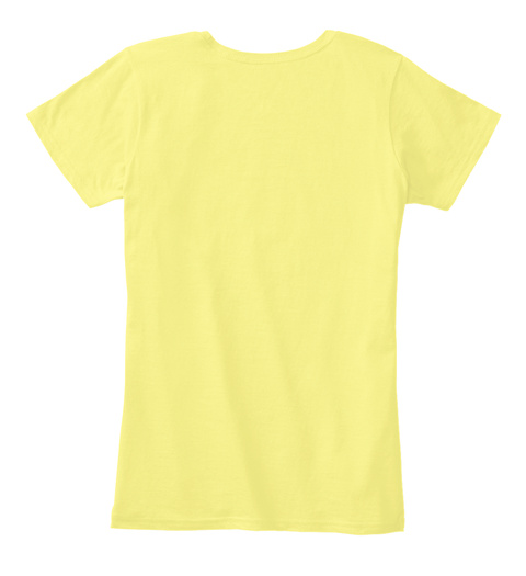 Summer Love T Shirt By The Cool Tees Lemon Yellow T-Shirt Back