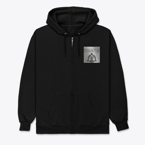 Changing Tymz Light Skull Zip Hoodie #1 Black T-Shirt Front