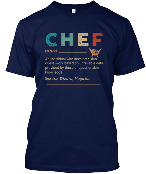 Awesome Chef Navy T-Shirt Front