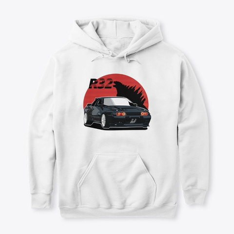R32 Beast White T-Shirt Front