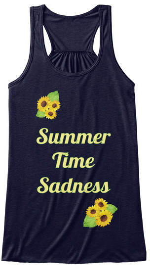 Summer Time Sadness Midnight T-Shirt Front