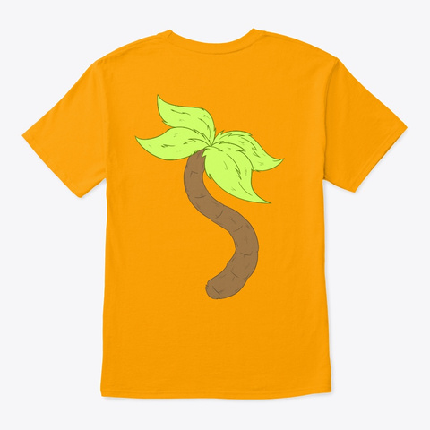 Natukat Belly And Tail Gold T-Shirt Back